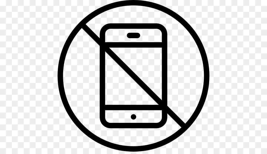 no cell phone sign black and white.