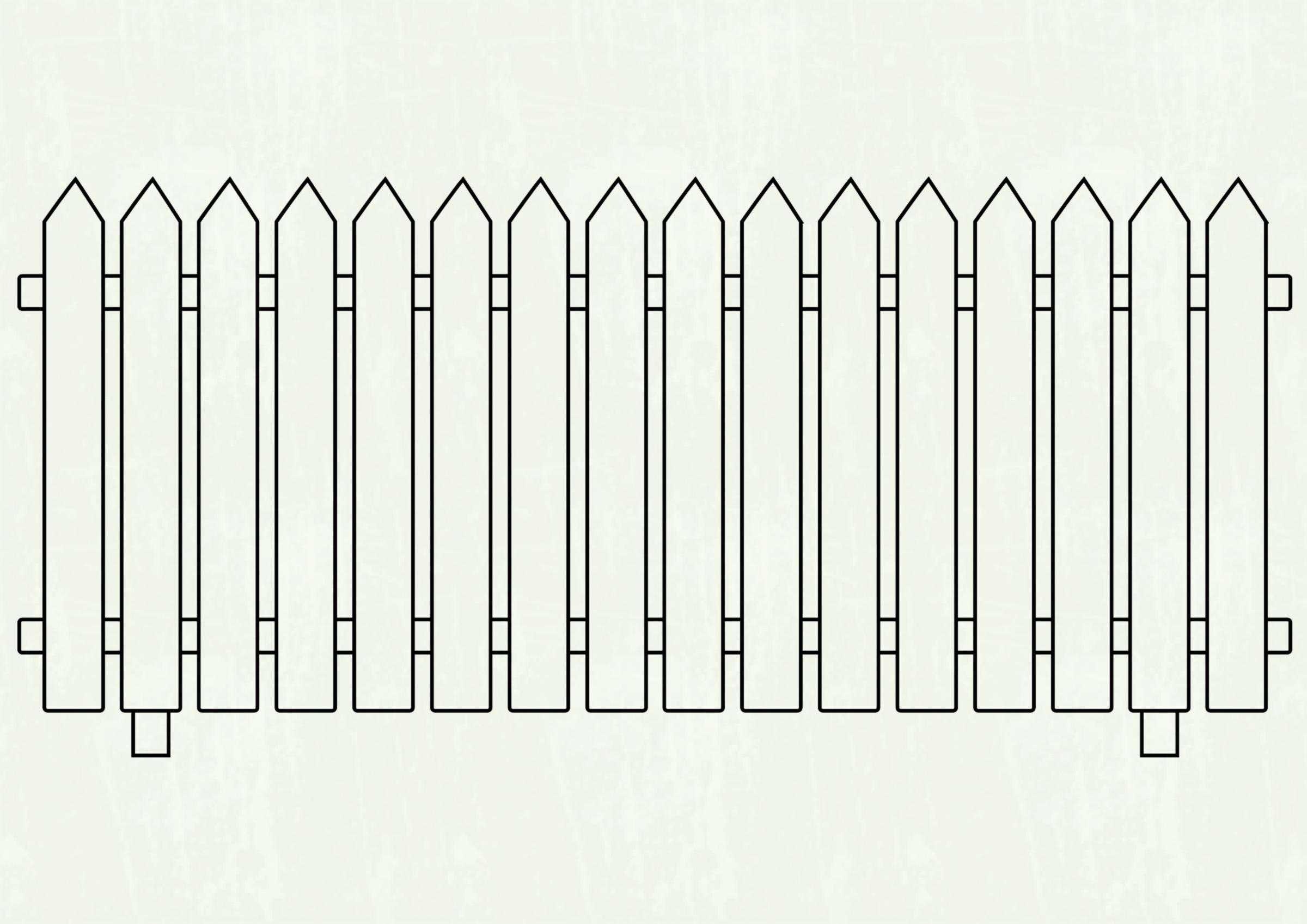 White picket fence clipart 6 » Clipart Station.