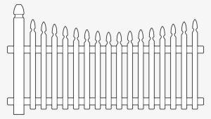 White Picket Fence PNG Images.
