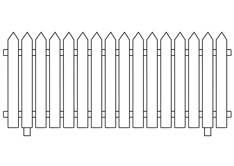 Free Clipart: White Picket Fence.