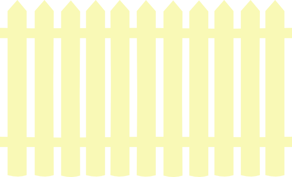 Cream Picket Fence Clip Art at Clipart library.