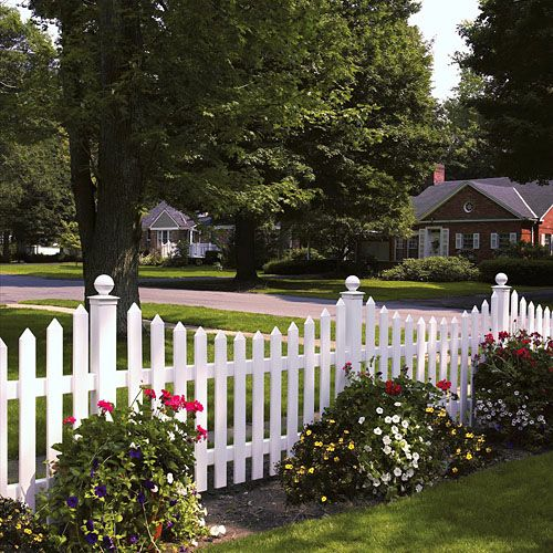 Beautiful white picket fence! No wonder everyone dreams of.