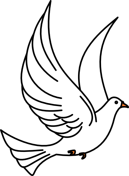 Pigeon Peace Clipart.