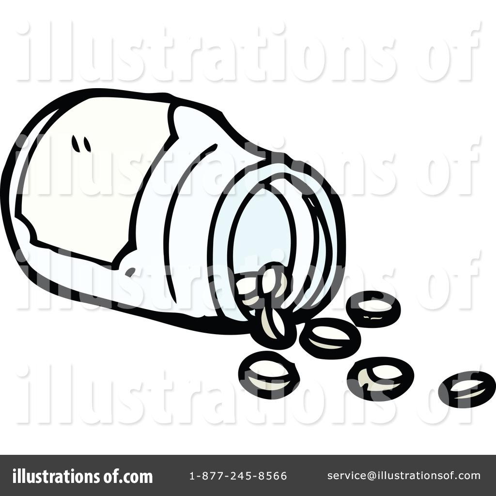218 Pill Bottle free clipart.