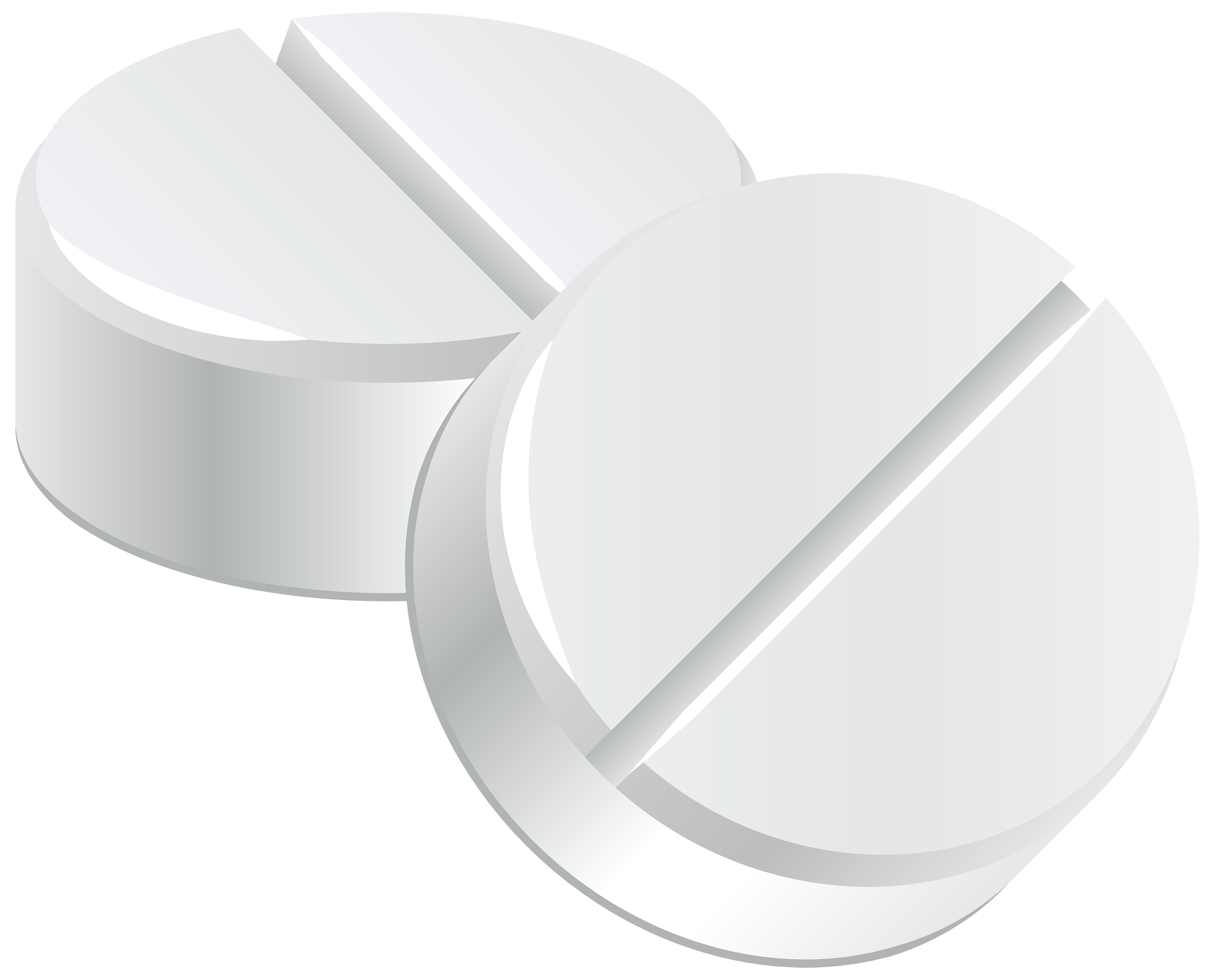 White Pills PNG Clipart.