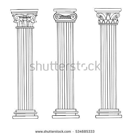 Columns Building Stock Photos, Royalty.