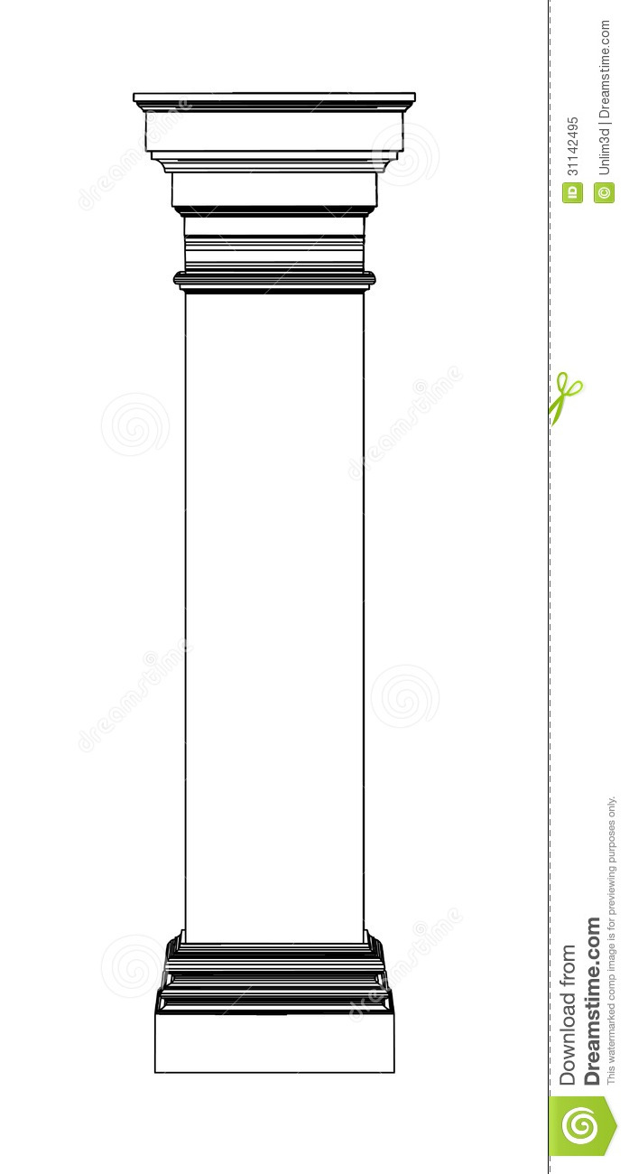 Single Pillar Clipart.