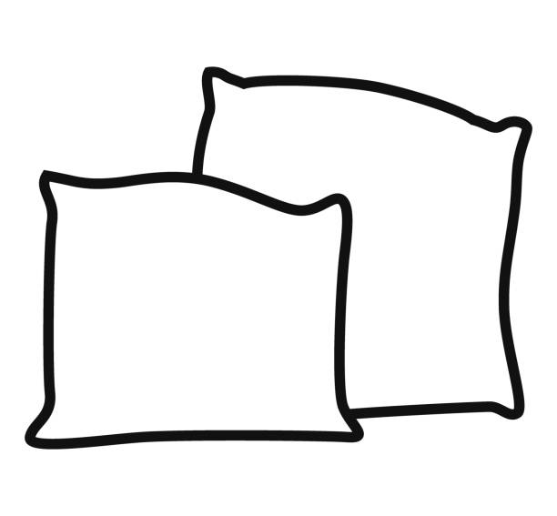Black And White Pillow Clipart.
