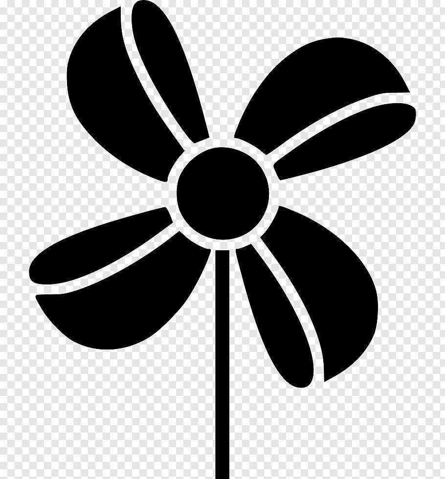 Black And White Flower, Wind, Toy, Pinwheel, Line, Fan.