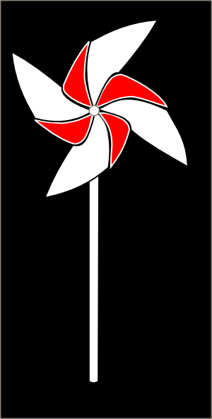 Red And White Pinwheel On Black Background Clip Art at Clker.