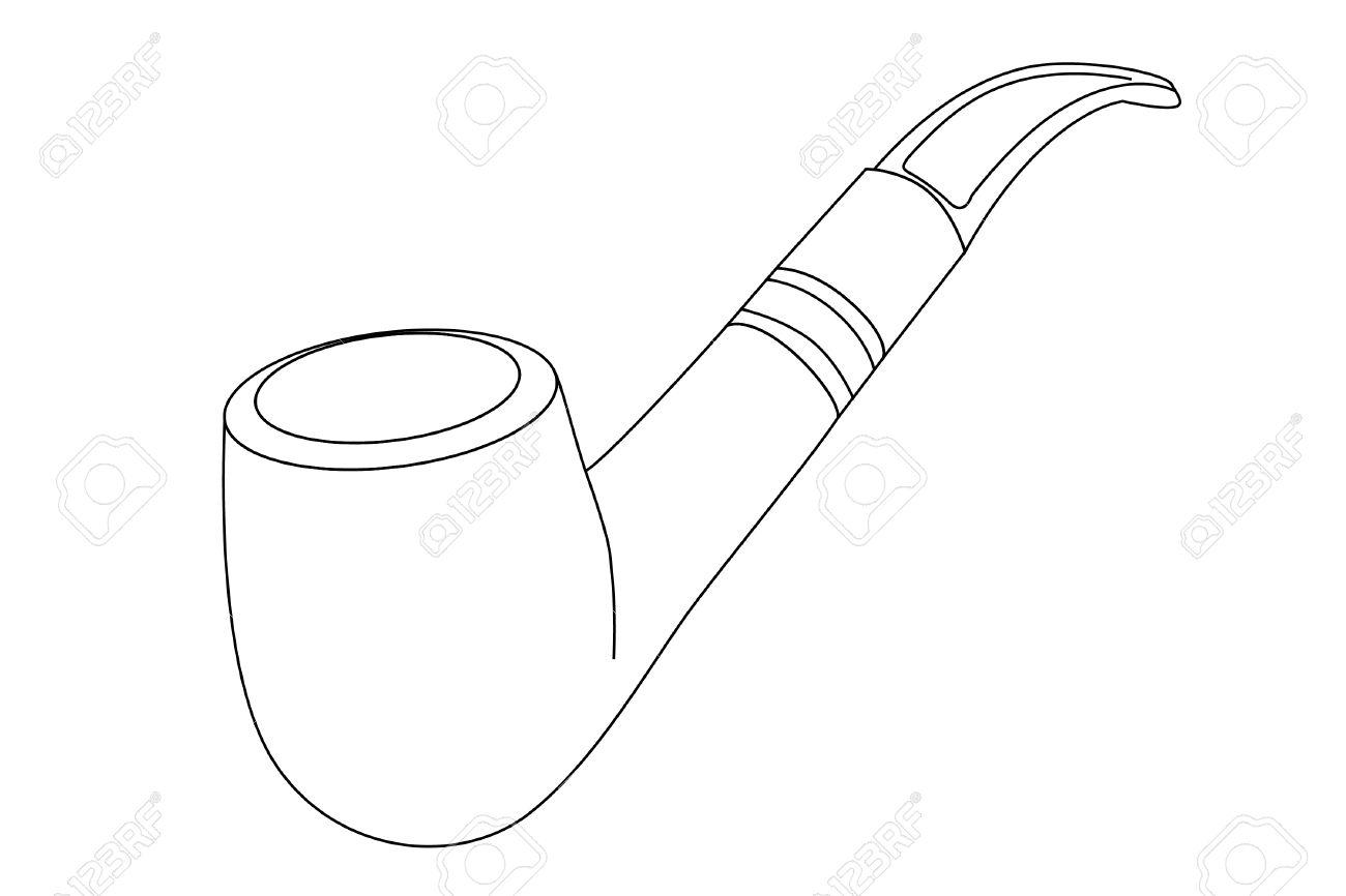 Black Tobacco Pipe Clipart.