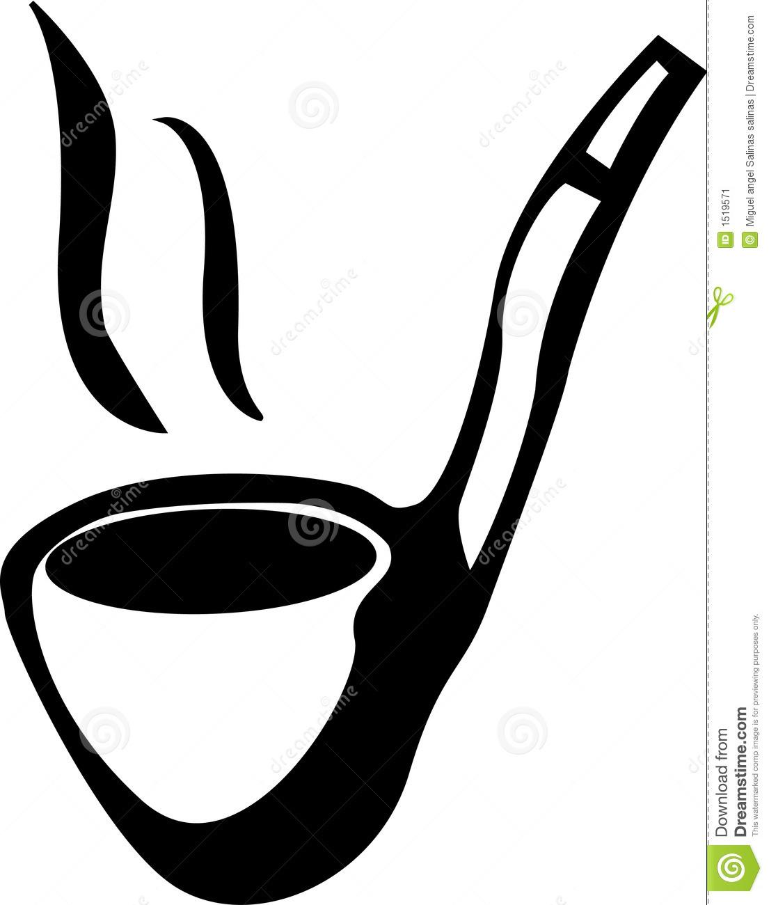 Tobacco Black And White Clipart.