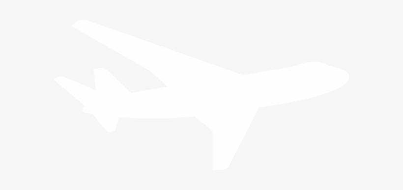 White Plane Silhouette Clip Art.