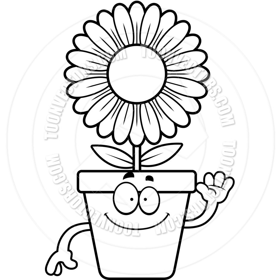 Plant Clipart Black And White.