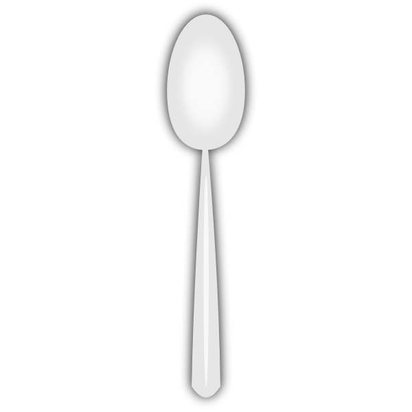 Disposable spoon vector image.