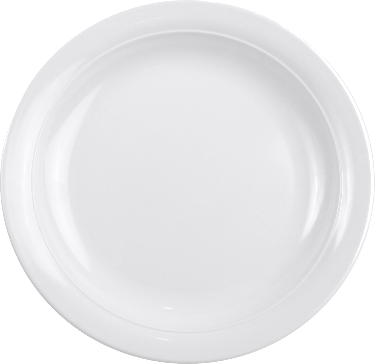 White Plate PNG Image.