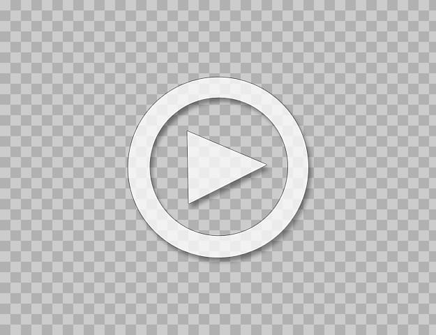 White and black play video icon illustration, Logo Brand Circle Font.