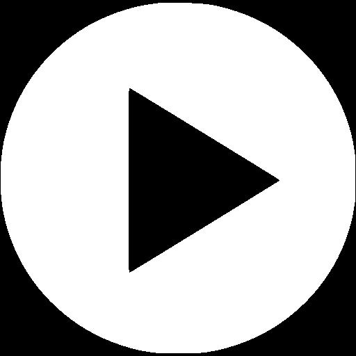 White video play icon.