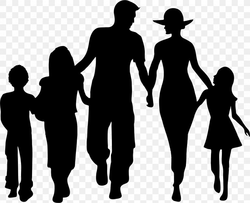 Silhouette Family Clip Art, PNG, 2257x1842px, Family, Black.