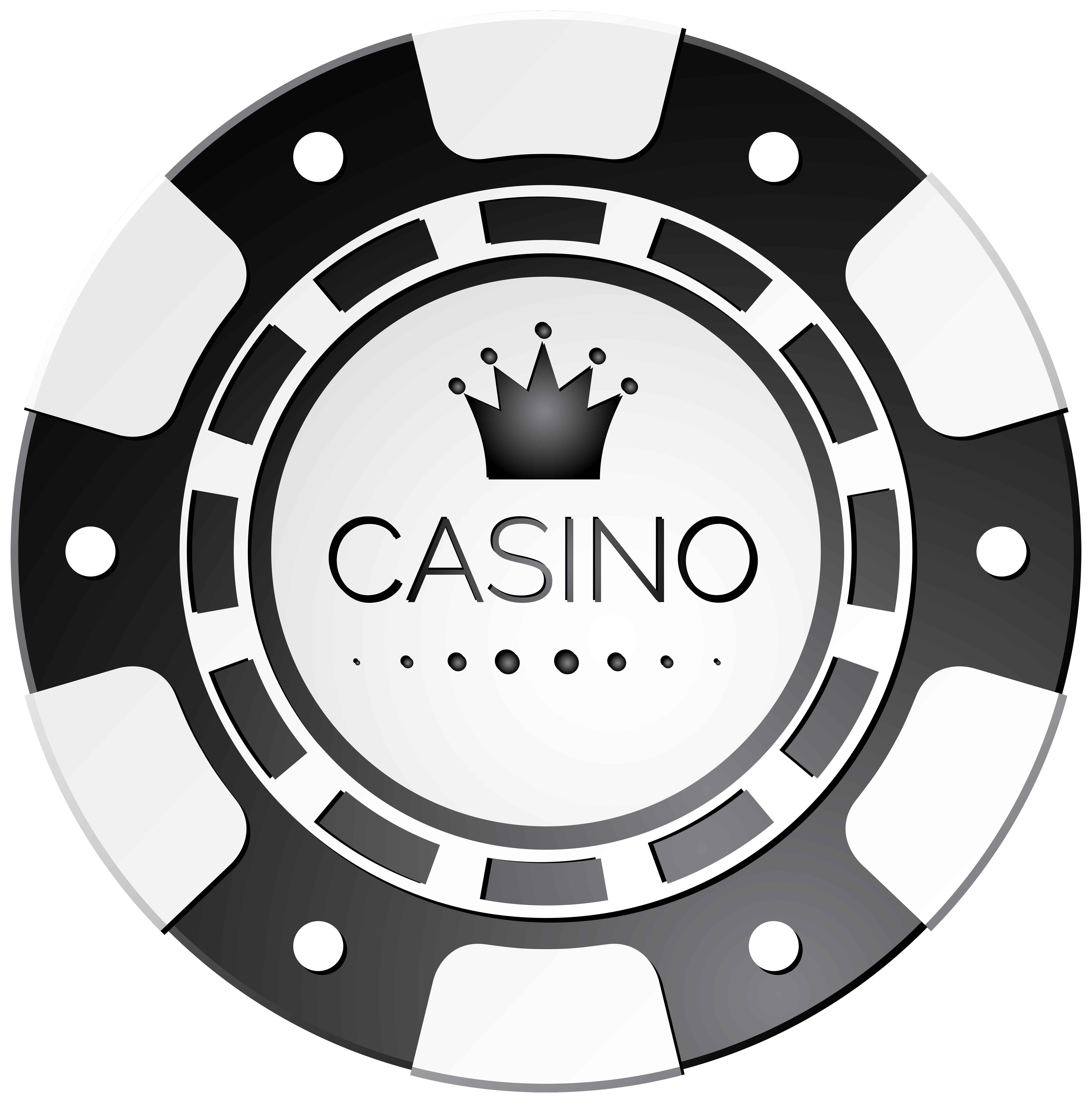 White Casino Chip PNG Clip Art.