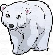 Image result for polar bear clipart black and white.