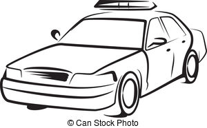 1319 Police Car free clipart.