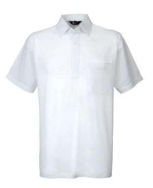 Gabicci White Plain Button Polo Shirt.