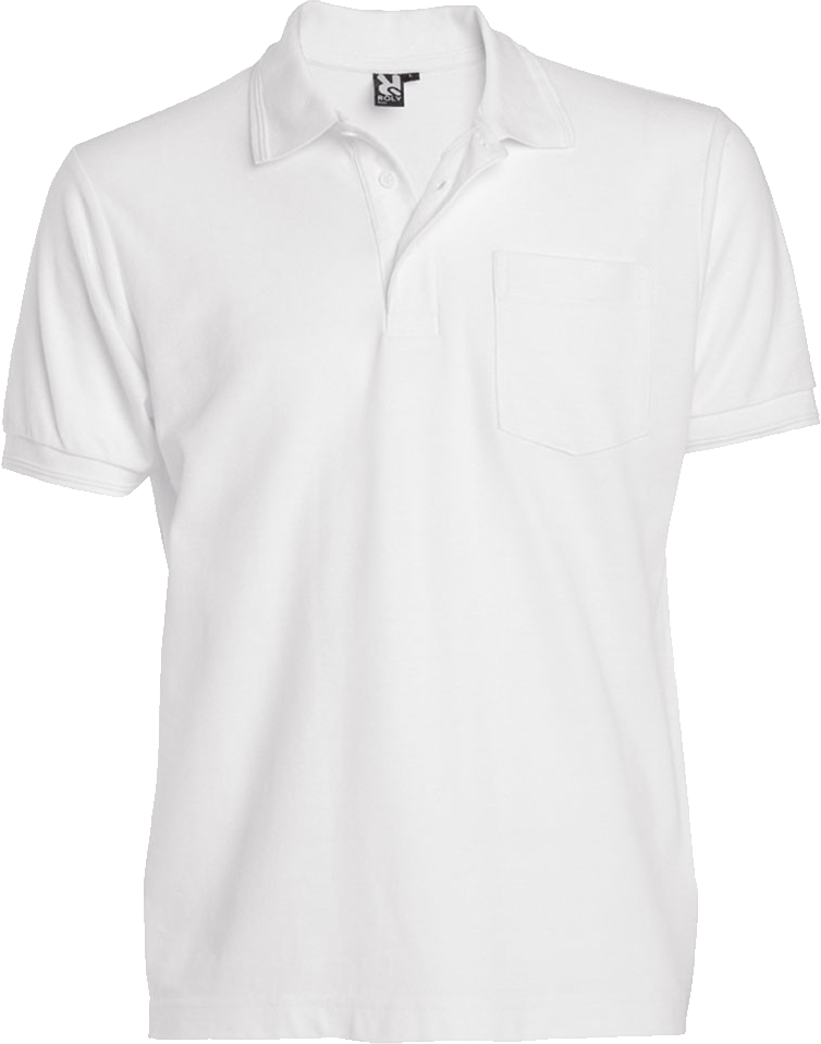 White Polo Shirt PNG Image.