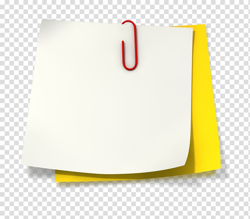 Two white and yellow notes with clip, Paper Post.