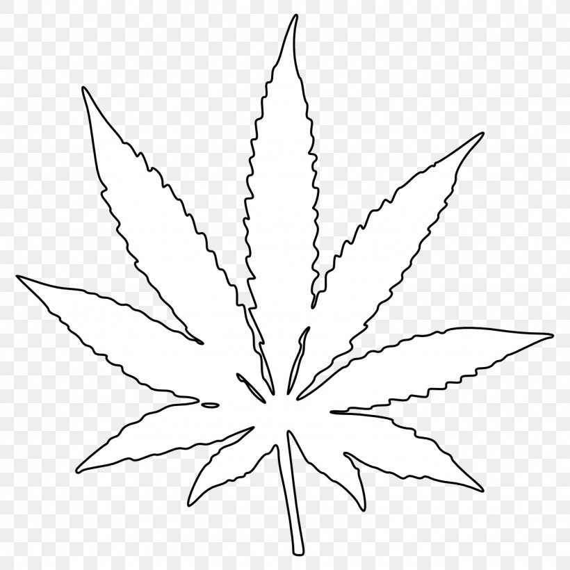 Cannabis Leaf Drawing Coloring Book Clip Art, PNG.