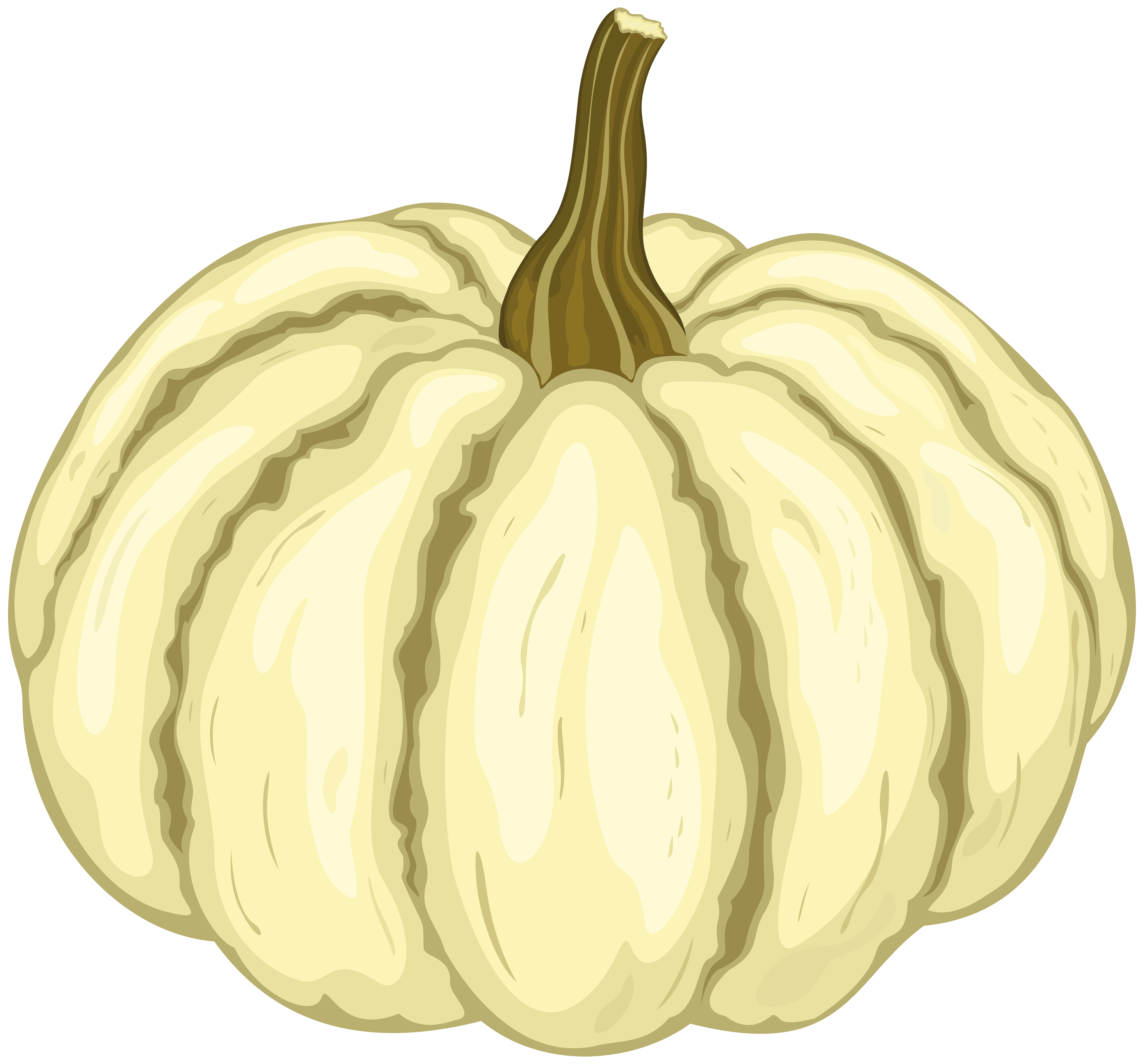 White Pumpkin PNG Clipart Image.