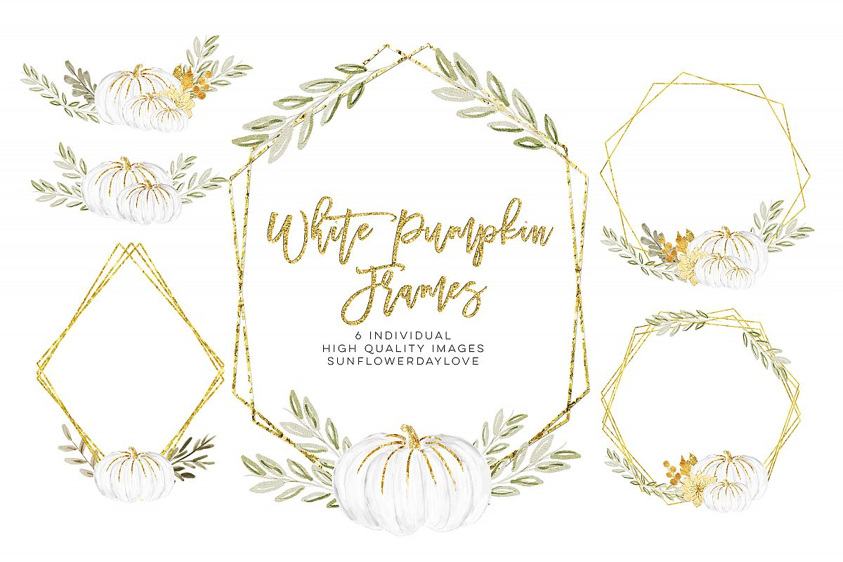 white pumpkin wreath, Fall watercolor wreath.