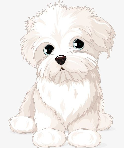 Cartoon White Puppy PNG, Clipart, Cartoon, Cartoon Clipart, Cartoon.