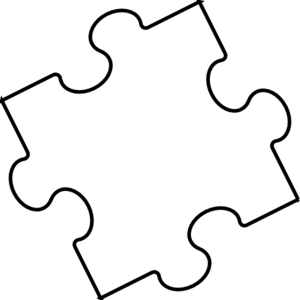 Black White Puzzle Piece Clip Art at Clker.com.