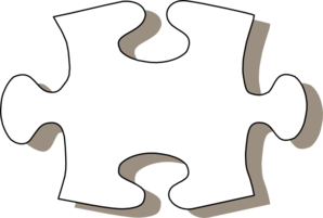 Jigsaw White Puzzle Piece Clip Art at Clker.com.