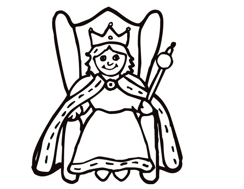 Black And White Clipart Queen.