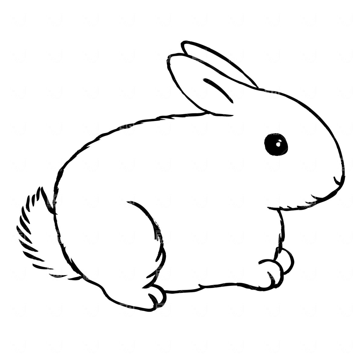 Black and white rabbit clipart 1 » Clipart Portal.