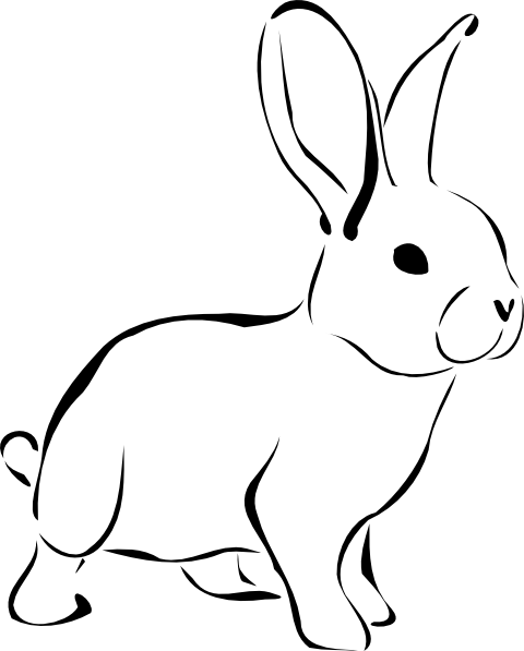 Free Black And White Rabbit Clipart, Download Free Clip Art.