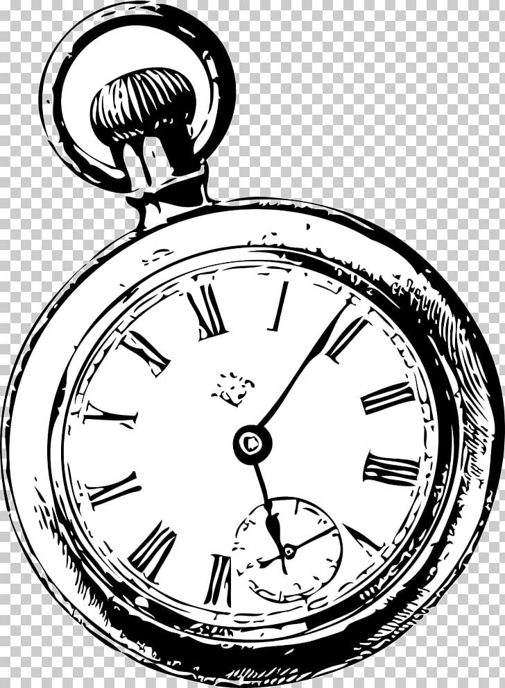 White Rabbit Pocket watch , sketch, pocket watch.