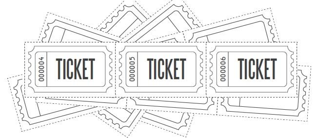 Customize Printable Raffle Ticket Blanks.