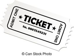 3182 Ticket free clipart.