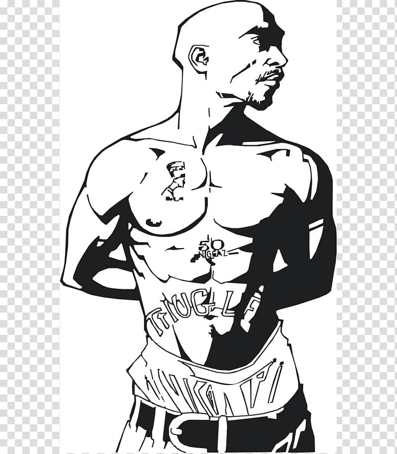 Rapper Art Drawing Poster, tupac shakur transparent.