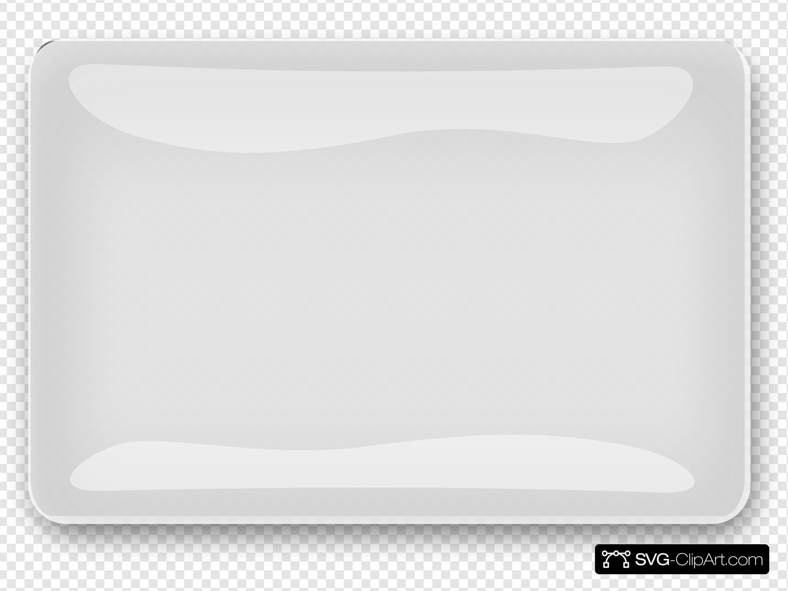 Whitey Glossy Rectangle Button Clip art, Icon and SVG.