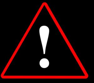 Red Black White Warning 2 Clip Art at Clker.com.