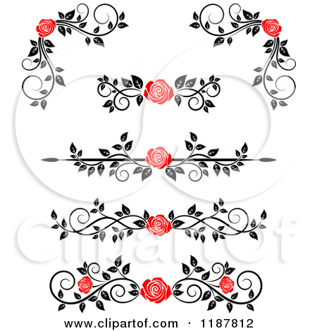 Royalty Free Stock Illustrations of Red Roses by Vector Tradition.