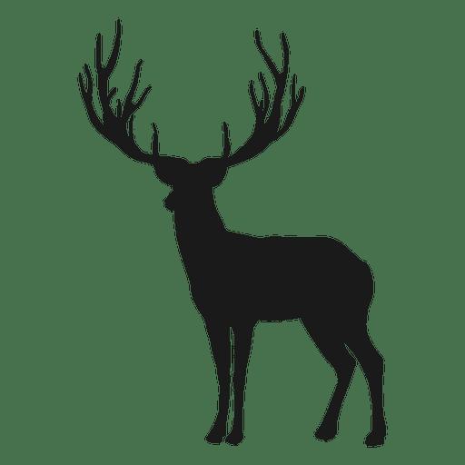Reindeer silhouette.