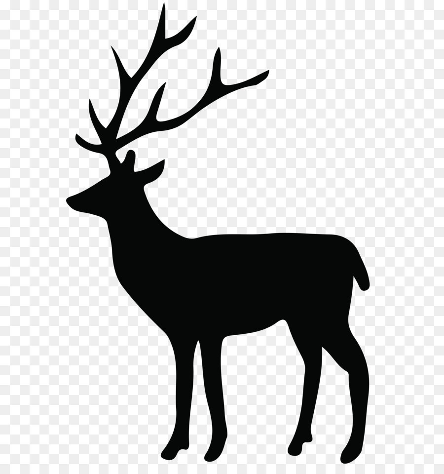 Reindeer Silhouette Png Black And White & Free Reindeer Silhouette.