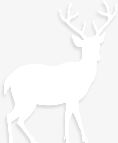 White Elk Silhouette, White, Elk, Silhouette PNG Transparent Image.