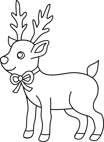 Reindeer Black And White Clipart.