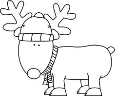 Reindeer Clipart Black And White.